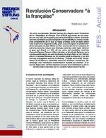 """Revolución conservadora """"á la française"""""""