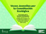 Voces juveniles por la constitución ecológocia